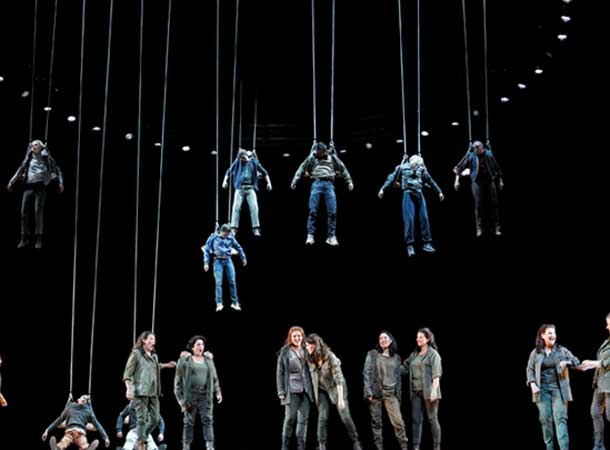 The Valkyries in Opera Australia's production of Die Walküre, 2013. Photograph: Jeff Busby